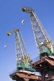 Shipyard Cranes. Two cranes in Szczecin shipyard, Poland Royalty Free Stock Image