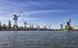 Shipyard cranes Royalty Free Stock Image