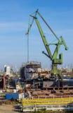 The shipyard cranes Royalty Free Stock Photography