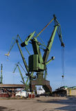 The shipyard cranes Royalty Free Stock Images