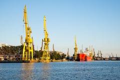 Shipyard cranes Royalty Free Stock Photo