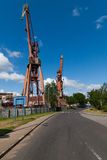 Two cranes Royalty Free Stock Image