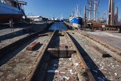 Shipyard in Denmark. A Shipyard in Denmark, a real place of work royalty free stock photo