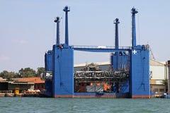 Shipyard dock platform Royalty Free Stock Photo