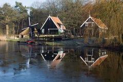 Shipyard in Dutch Open Air Museum in Arnhem Royalty Free Stock Photo