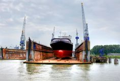 Shipyard in the eemhaven at the port of rotterdam, Stock Image