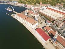 Shipyard in Erandio. Bizkaia, Basque Country, Spain royalty free stock photography