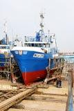 Shipyard fishing Royalty Free Stock Photography