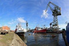 Shipyard in Gdansk Royalty Free Stock Photo