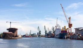 Shipyard of Gdansk. Stock Photos