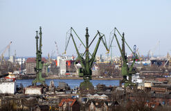 Shipyard in Gdansk, Poland Royalty Free Stock Photos