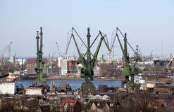 Shipyard in Gdansk, Poland Royalty Free Stock Photos