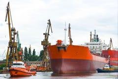 Shipyard, Gdansk, Poland. View of shipyard, Gdansk, Poland Royalty Free Stock Photography