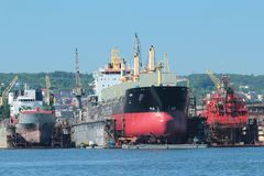 Shipyard in Gdynia, Poland Royalty Free Stock Images