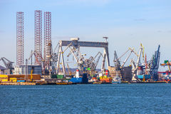 Shipyard of Gdynia Stock Photography