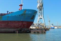 Shipyard in Gdynia Stock Image
