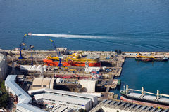 Shipyard in Gibraltar Stock Photography
