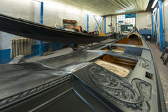 Shipyard for gondolas Royalty Free Stock Image