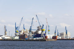 Shipyard in Hamburg, Germany Stock Image