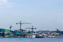 Shipyard in the harbor Stock Photography