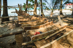 The shipyard of Hon Mau Island Stock Photography