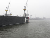Shipyard In Hamburg Stock Image