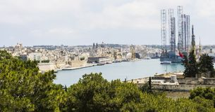Shipyard on Malta Stock Images