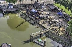 Shipyard at the Old Harbor stock photo