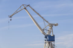 Shipyard one crane Royalty Free Stock Photography