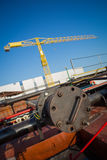 Shipyard pipes Royalty Free Stock Image