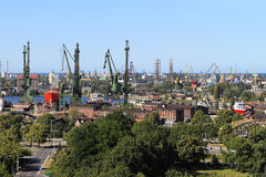 Shipyard and port in Gdansk, Poland Stock Image