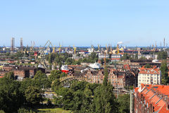 Shipyard and port in Gdansk, Poland Stock Image