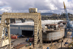 Shipyard in Portland Oregon. Royalty Free Stock Images