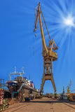 On the shipyard Royalty Free Stock Photos
