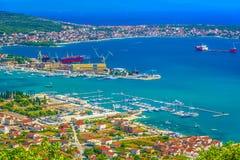 Shipyard in Trogir Riviera, Croatia. stock photos