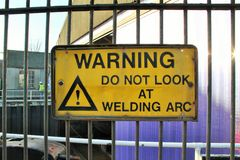 Shipyard welding Stock Image
