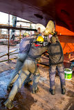 Shipyard workers Royalty Free Stock Photos