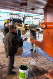 Shipyard workers Stock Photography