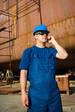 Shipyard workers Royalty Free Stock Images
