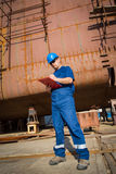 Shipyard workers Royalty Free Stock Photo