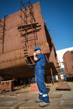 Shipyard workers Stock Photos