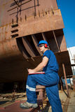 Shipyard workers Royalty Free Stock Image