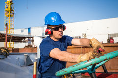 Shipyard workers Royalty Free Stock Photography