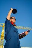 Shipyard workers Stock Photo