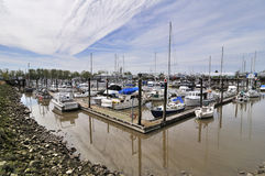 Shipyard of yachts Stock Photography