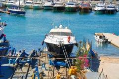 Shipyards. Trani. Puglia. Italy. Royalty Free Stock Photography