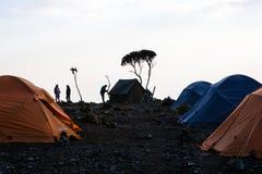 Shira Camp at Machame Route stock photos