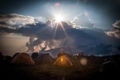 Shira Camp an Machame-Weg lizenzfreie stockbilder