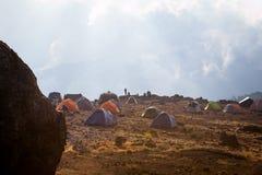 Shira Camp an Machame-Weg stockbild