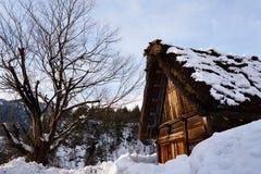 Shiragawa-går byn Arkivbild